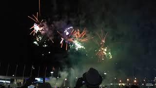 Фейерверк в  Олимпийском парке Адлер