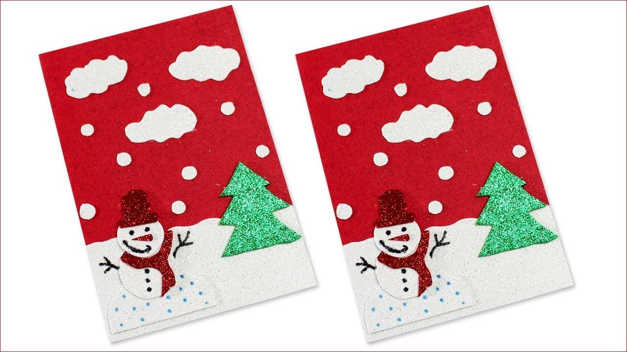 Christmas Greeting Card Making Ideas Christmas Greeting Card Awesome Christmas Crafts 2020 Youtube