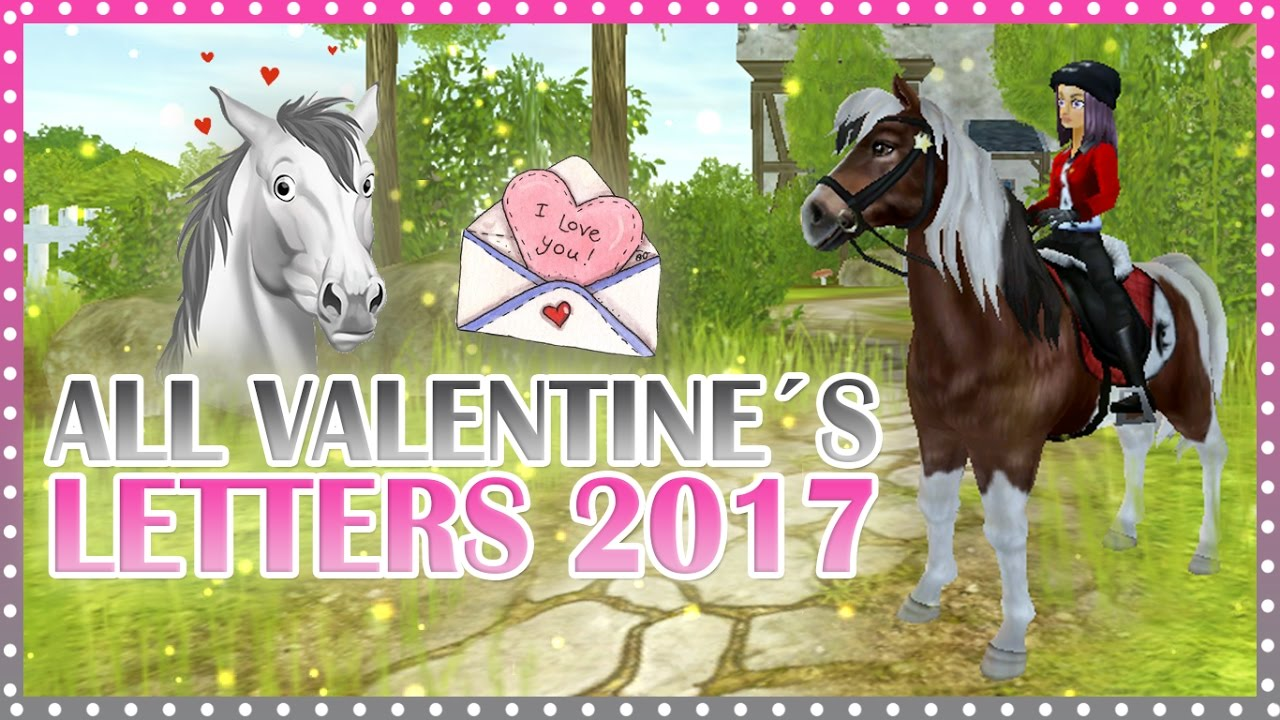 All Valentines Letters 2017  Star Stable  YouTube
