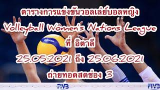 ตารางการแข่งขันวอลเล่ย์บอลหญิง เนชั่นลีก 2021 Program Volleyball Women's Nations League 2021