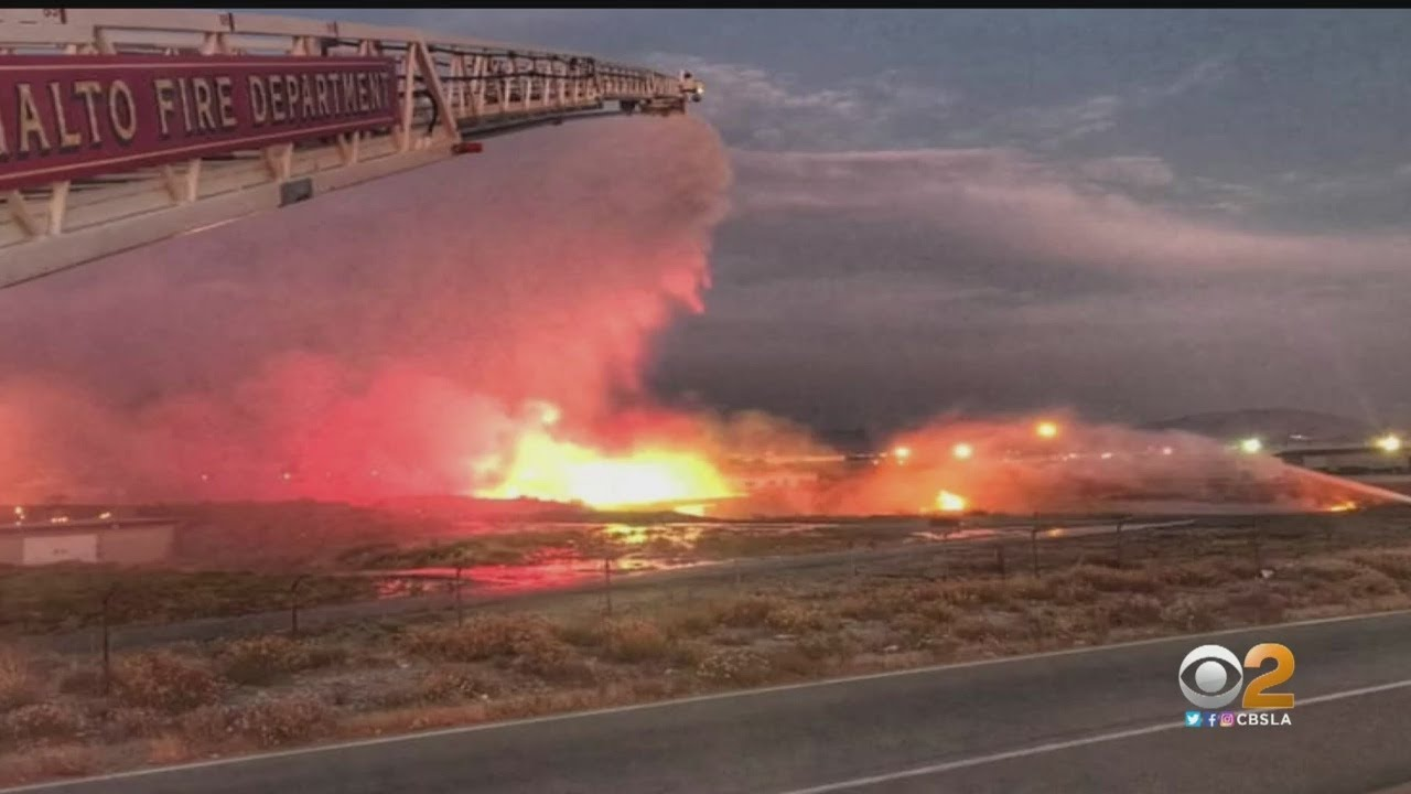 Explosion At Rialto Firework Bunker Lights Up The Sky