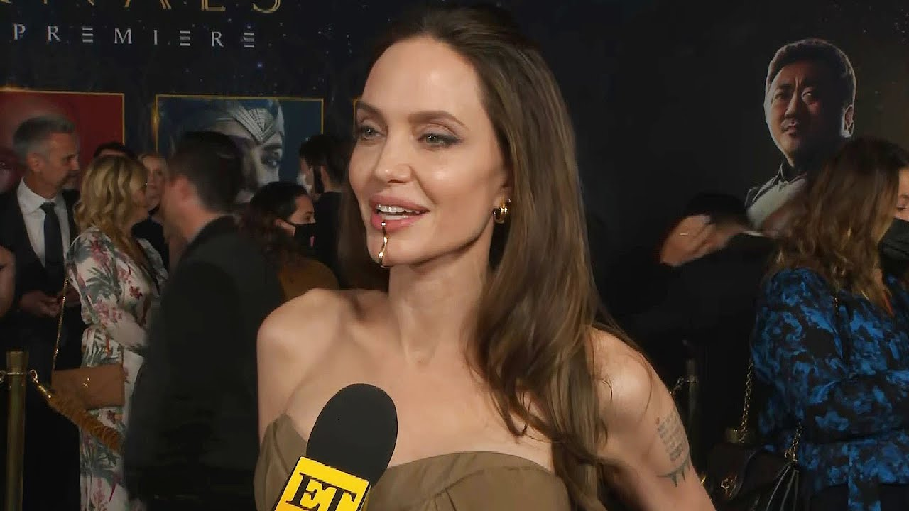 Angelina Jolie on How her Kids REALLY Feel About her Eternals Look (Exclusive)