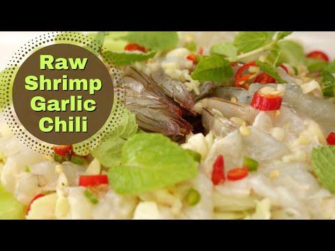 Thai Prawn (shrimp) Cooked In Lime Juice & Salad Recipe ❤️️