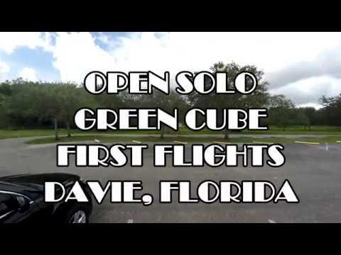Open Solo Green Cube - First Flights Davie Florida (4K)