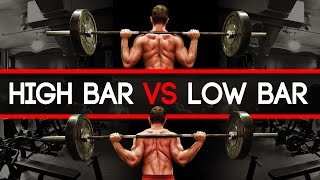 Squat: High Bar Vs Low Bar - Which Builds More Muscle? More Strength?