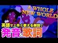 【発音&歌詞和訳】A whole new world (アラジン / ホール・ニューワールド) 英語 歌詞付き / 日本語訳解説 /カラオケ