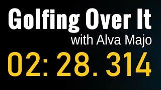 [골프공게임] 스피드런 2:28.314 한국랭킹 1위 (Golfing Over It with Alva Majo - Speed Run 02m28.314s)