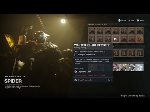 WANTED: Ghaul Devotee Location (Spider Bounty) [Destiny 2 Forsaken]
