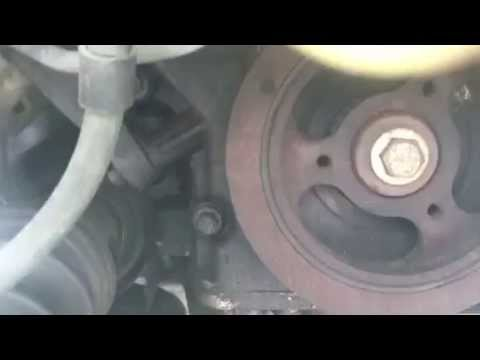 How to remove and replace drive belt mazda mpv 2000 - YouTube
