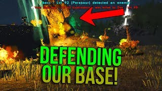 DEFENDING AGAINST A MEGA TRIBE INVASION! | ARK Official PvP Apocalypse - ARK Survival Evolved