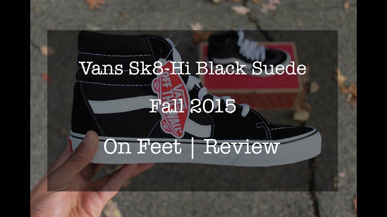 d0567c5c24 Vans Sk8-Hi Black Suede - YouTube