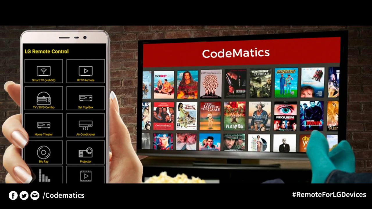 Control all LG devices with CodeMatics Remote for LG devices