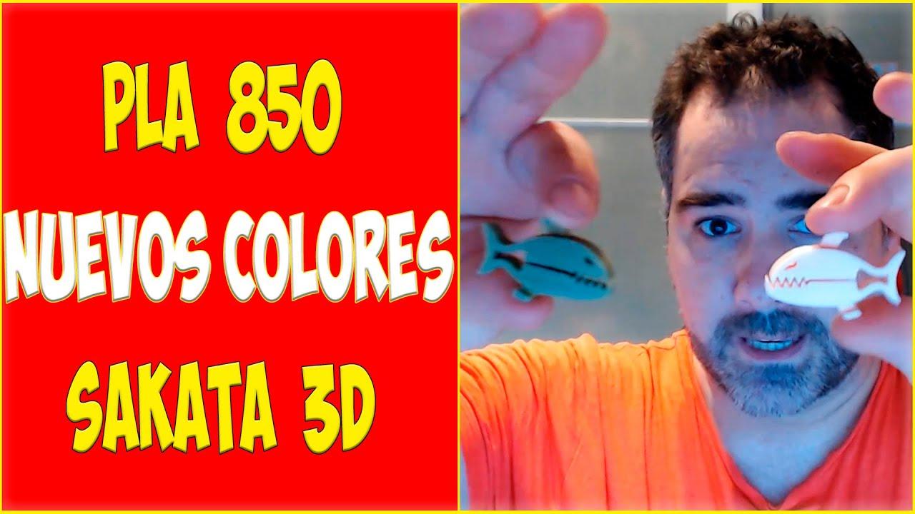 PLA 850 Imprimiendo los nuevos colores de Sakata 3D Filaments
