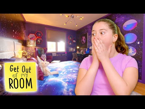 Girl Gets SCI-FI THEMED GALAXY Room Makeover! | Get Out Of My Room | Universal Kids
