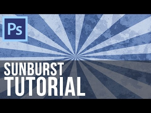 Sunburst Effect - Photoshop CS6 Tutorial