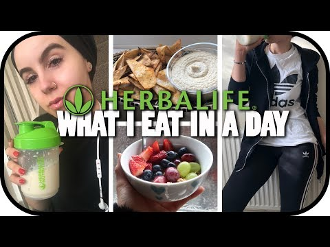 WHAT I EAT IN A DAY🥗 -HERBALIFE EDITION! | Amina Chebbi