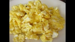 SCRAMBLED EGGS in 3 Minutes | Learn how to SCRAMBLE EGGS Demonstration