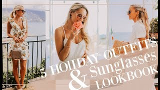 5 HOLIDAY OUTFITS + HOW TO STYLE WITH SUNGLASSES  //  Fashion Mumblr