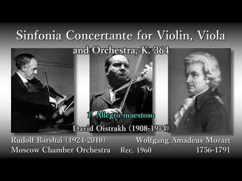 Mozart: Sinfonia Concertante for Violin, Viola (1960) モーツァルト ヴァイオリンとヴィオラのための協奏交響曲