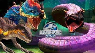 3 Пахигалозавра и 3 Индораптора 40 против УРОБОРОС 66 19уровень Jurassic World The Game