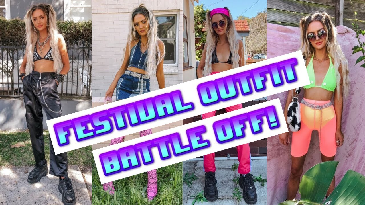 [VIDEO] - FESTIVAL OUTFIT BATTLE OFF!!! FESTIVAL / HOLIDAY / IBIZA OUTFIT IDEAS 4