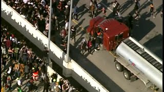 RAW VIDEO: Truck drives into Minneapolis protest crowd