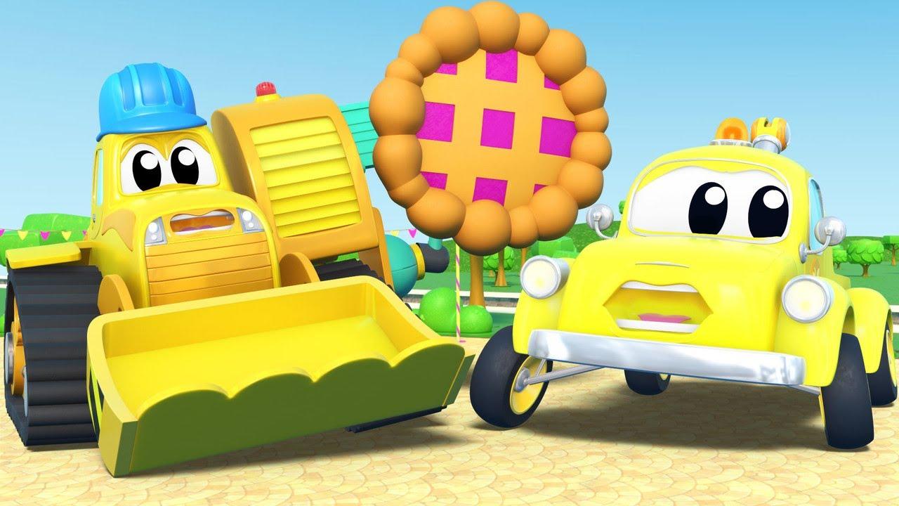 Ngày cá tháng 4: xe ủi đất với trò đùa bánh nướng - Thành phố xe - Hoạt hình cho thiếu nhi