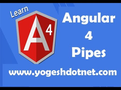 pipes in angular 4 | currency, slice, percentage, decimal, json | Part -3 |  Lecture 16 | Hindi