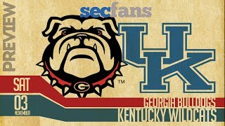Georgia vs Kentucky - Preview & Predictions (Computer Model) 2018 College Football