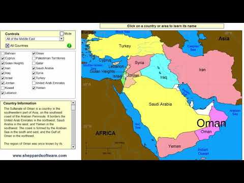 Learn The Countries Of The Middle East! - Geography Map Game - Sheppard Software