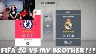 FIFA 20 VS MY BROTHER!!!
