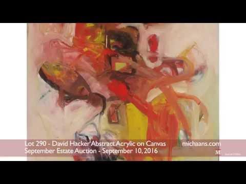 David Hacker Abstract Acrylic on Canvas