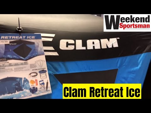 Clam #ClamOutdoors Retreat Ice Fishing Pop Up Shelter #12594 | Weekend Sportsman