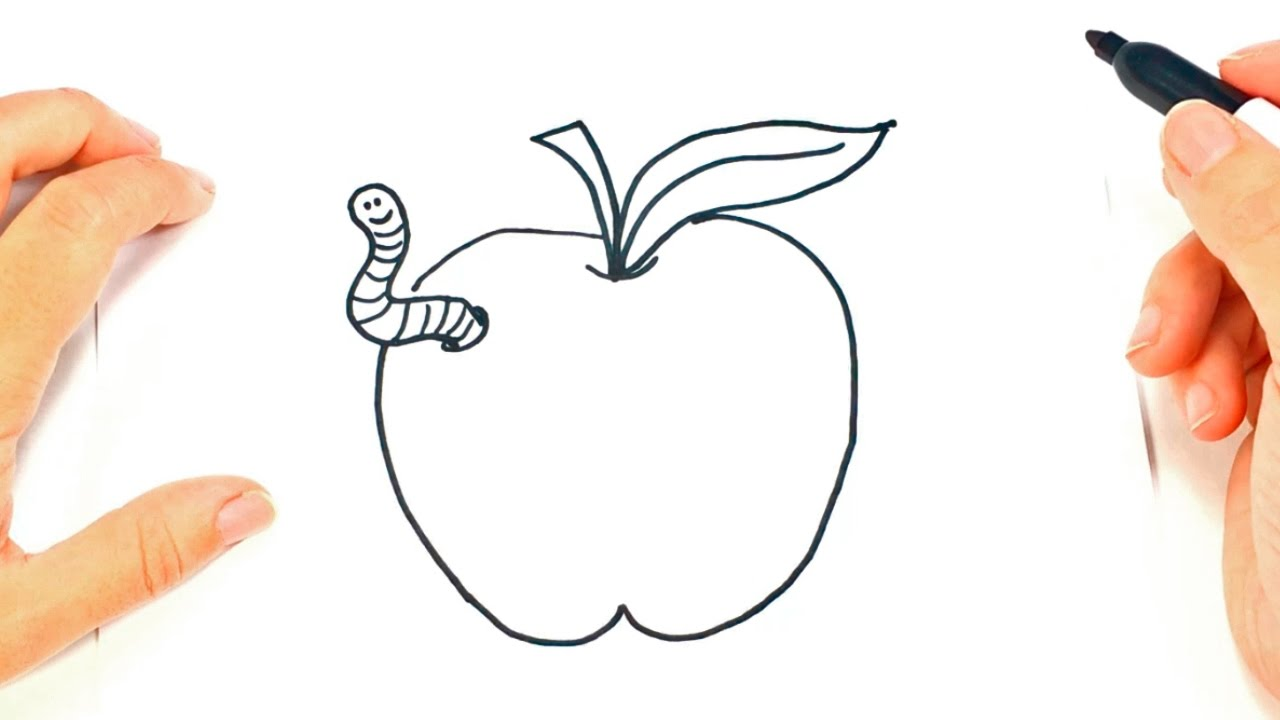 How To Draw A Apple Step By Step Apple Drawing Lesson