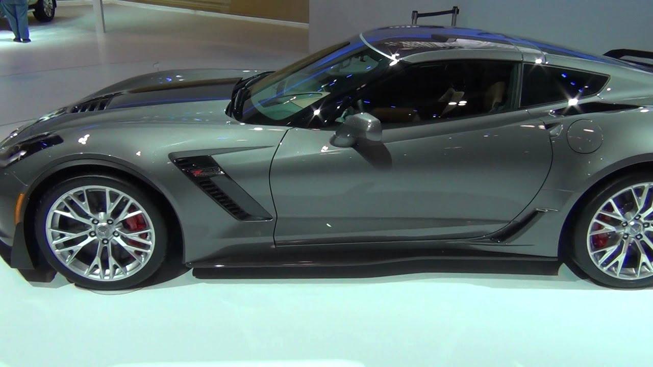 motrfacecom 2015 c7 corvette stingray z06 shark grey metallic video 2 of 2 youtube - Corvette 2015 Z06 Black