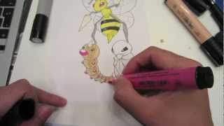 How to draw Pokemon: No.13 Weedle, No.14 Kakuna, No.15 Beedrill