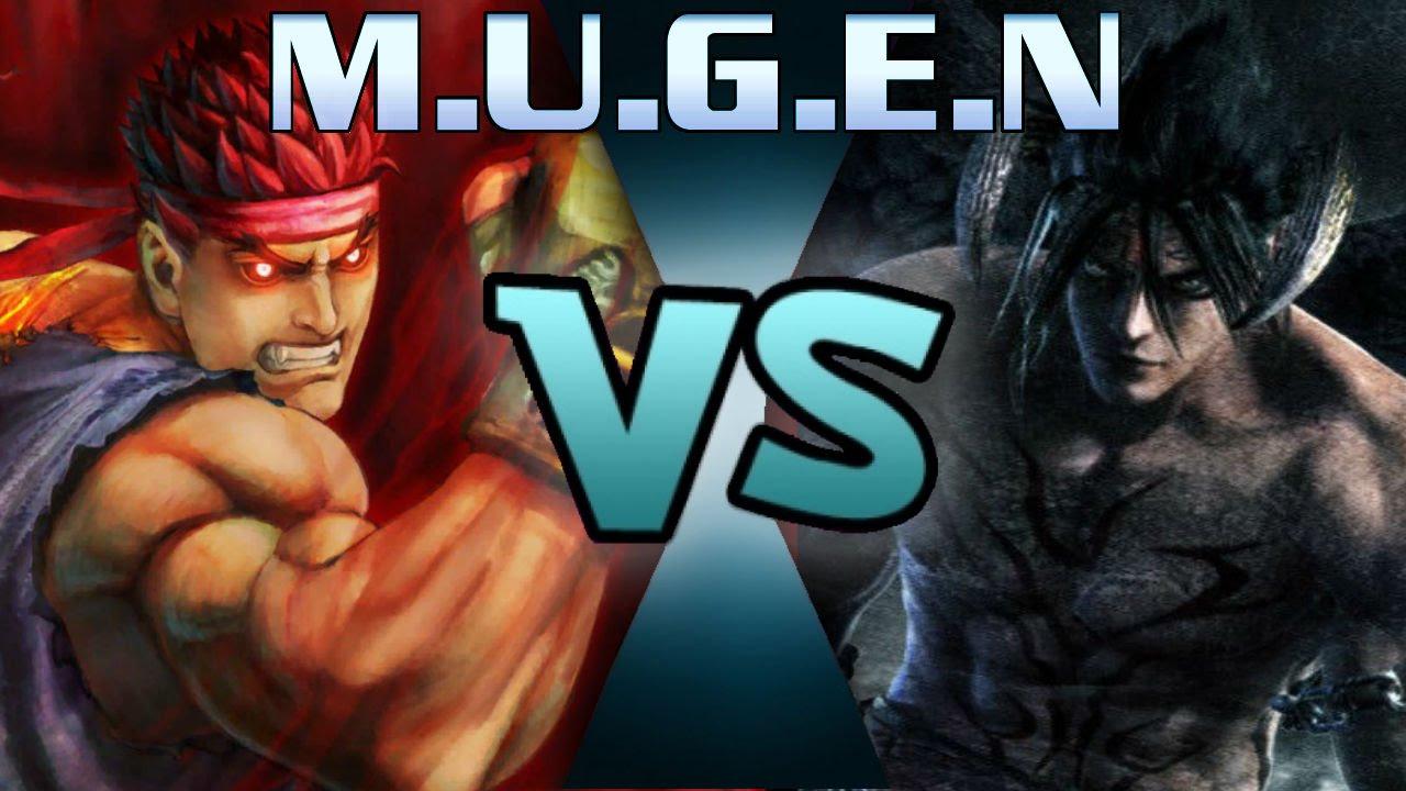 mugen devil jin vs evil ryu youtube
