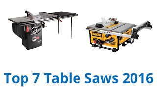 7 best table saws 2016