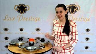 Сковорода из нержавеющей стали/ Lux Prestige