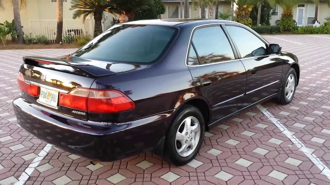1998 Honda Accord EX, Super Clean, Drives Great. Great Gas Mileage And Ice  Cold A/c   YouTube