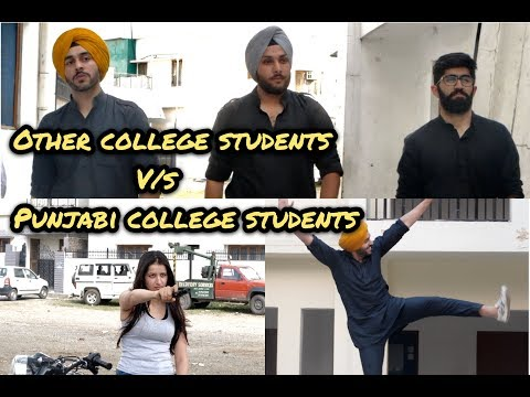 Other College Students Vs Punjabi College Students | SahibNoor Singh
