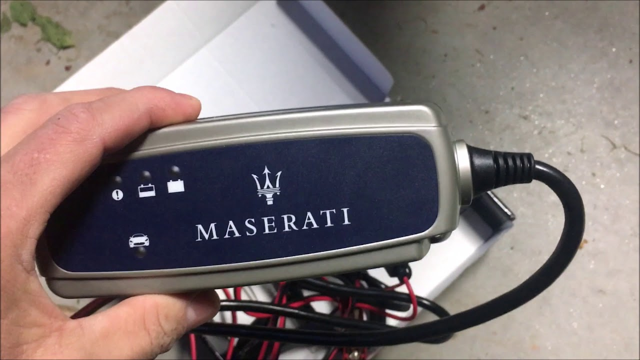 Hooking Up The Maserati To A Battery Tender
