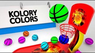 Nauka kolorów dla dzieci z piłkami do koszykówki | CzyWieszJak