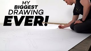 One of Daily Jazza's most viewed videos: The Biggest Marker/Paper Drawing I've Ever Done!