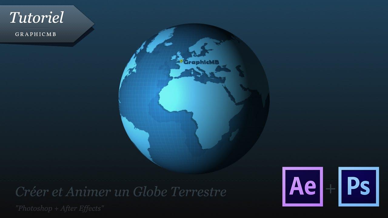 tuto cr er et animer un globe terrestre after effects youtube. Black Bedroom Furniture Sets. Home Design Ideas