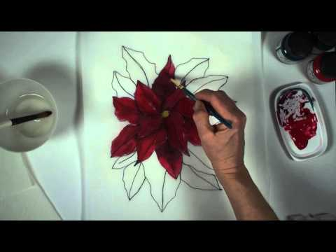 How to Paint and Quilt a Poinsettia Wall Hanging Part 1 of 3