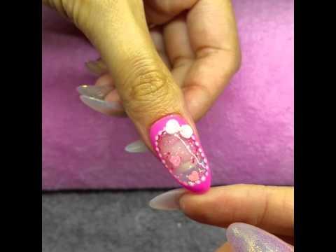 aquarium glitter nail water