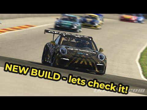 iRacing   Porsche Cup @ Road America   Racing against AI Nim!! NTM v7, AI Drivers, new paint options