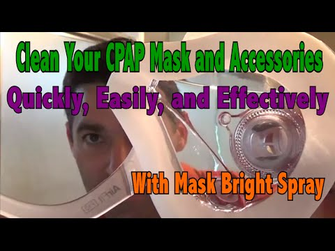 Mask Bright CPAP Mask Spray. Clean Mask, Tubing, and Humidifier. Deodorizer, and Face Oil Remover