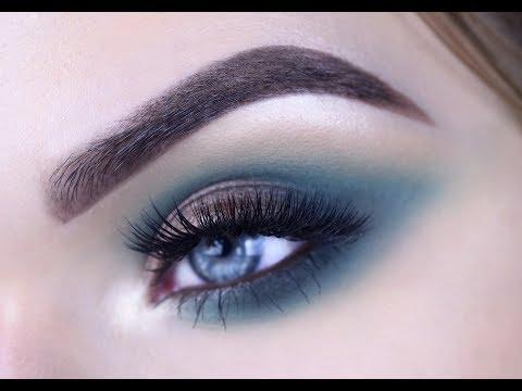 JACLYN HILL PALETTE | Teal Eye Makeup Tutorial